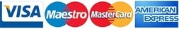 logo tarjetas bancarias apunta al maestro MasterCard American express