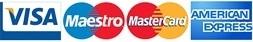 logo kartes bancaires visa maestro MasterCard American express