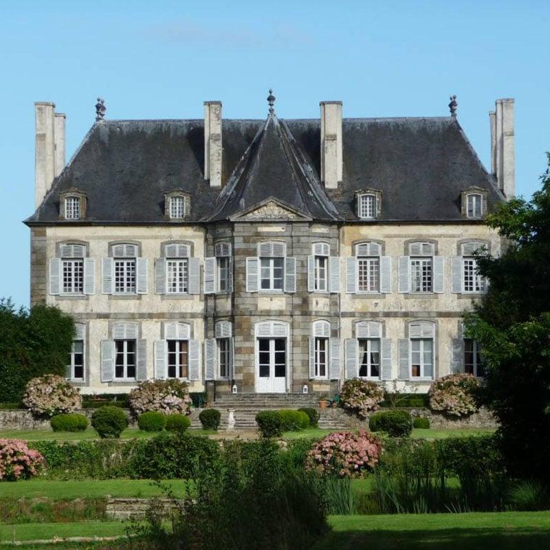 Malouinière Chipaudière Saint Malo französischer Garten Fassade Haus Familie teilen Geschichte