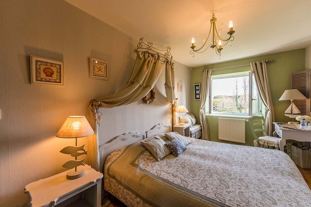 Französisches Herrenhaus XVIII BB La Barbinais Vermietung von Bed and Breakfast Saint Malo Weide Doppelzimmer Büro
